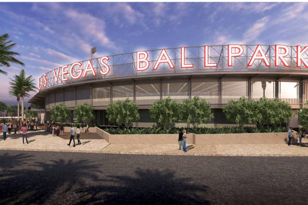The exterior of Las Vegas' new $80 million ballpark due to open in 2019