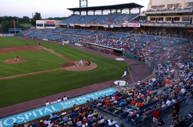 Few fans attend a Syracuse Chiefs game at NBT Bank Stadium.