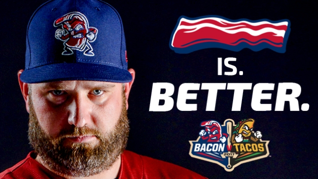 Lehigh Valley IronPigs Bacons vs. Tacos promotion