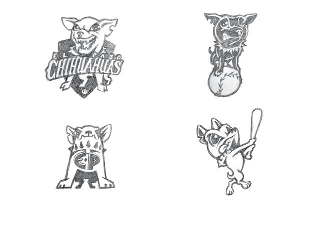 How Brandiose drew the El Paso Chihuahuas brand in progress
