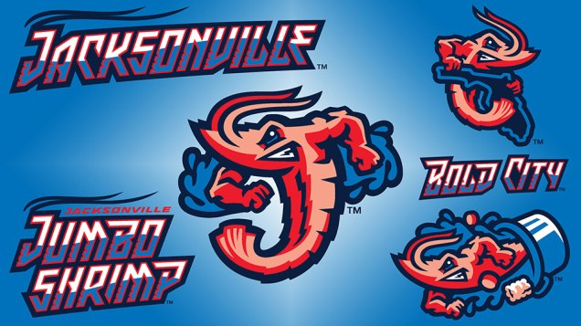 Jacksonville Jumbo Shrimp's Minor League Baseball Logos
