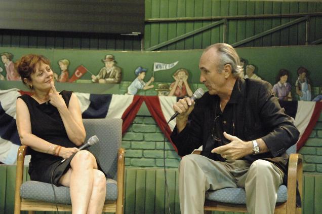 'Bull Durham' director Ron Shelton and star Susan Sarandon. Credit: Baseball Hall of Fame.