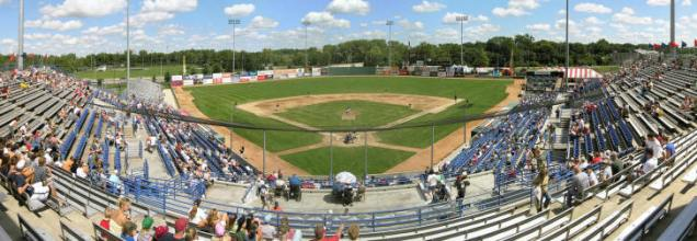 Memorial Stadium, former home of the Fort Wayne Wizards.