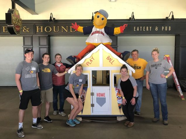 Toledo Mud Hens host Project Playhouse.