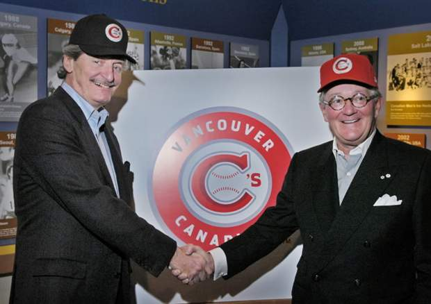 Vancouver Canadians owners Jake Kerr and Jeff Mooney